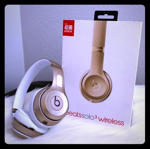 Apple Other Beats By Dre Gold Solo 3 Wireless Headphones Poshmark